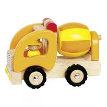 Goki - Holzauto Betonmischer