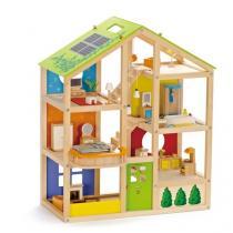 Hape - Maison de poupée toute saison meublée - Dès 3 ans