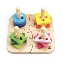 Hape - Puzzle à boutons créatif - Dès 18 mois