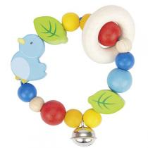Heimess - Wooden Elastic Touch Ring Baby Rattle - Bird