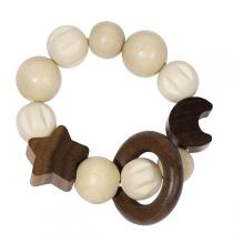 Heimess - Wooden Elasticated Touch Ring Rattle - Moon and Stars