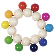 Heimess - Wooden Touch Ring - Rainbow Beads