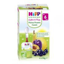 Hipp - Gourdes Poires Prunes Cassis 4x90g