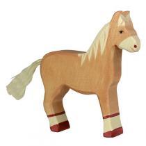 Holztiger - Figurine cheval marron  en bois