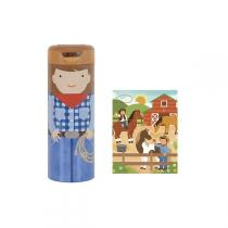 Petitcollage - Puzzle 64pcs au ranch tirelire, 4+