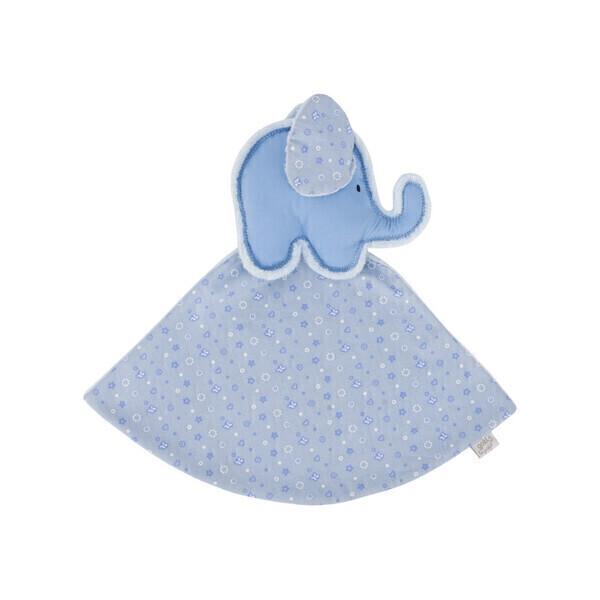 Goki - Petit Doudou Elephant bleu