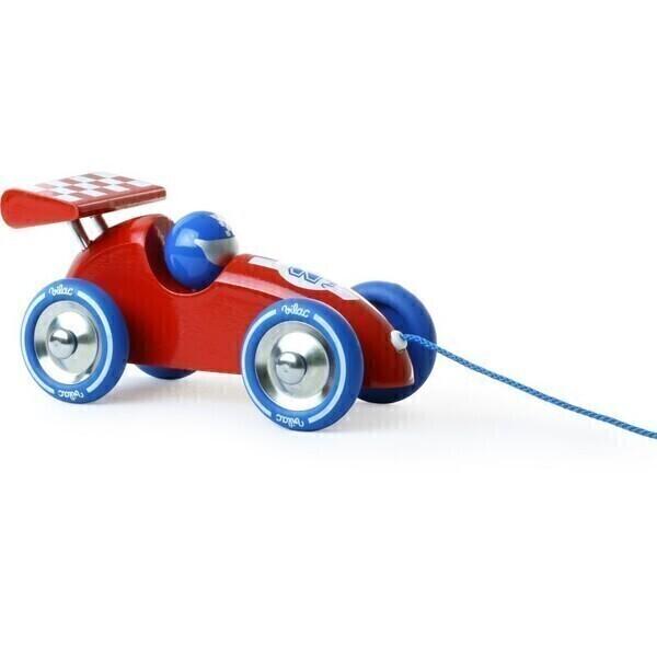 Vilac - Voiture de course a trainer rouge et bleue - des 18 mois