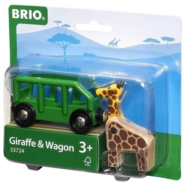 Brio - Wagon en Bois Girafe - Des 3 ans