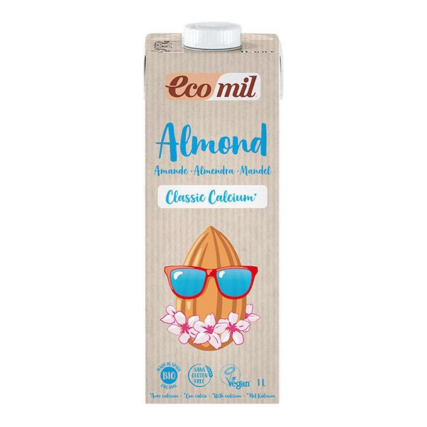 EcoMil - Lait d'Amande Bio Classic Calcium avec sucre de canne 1L