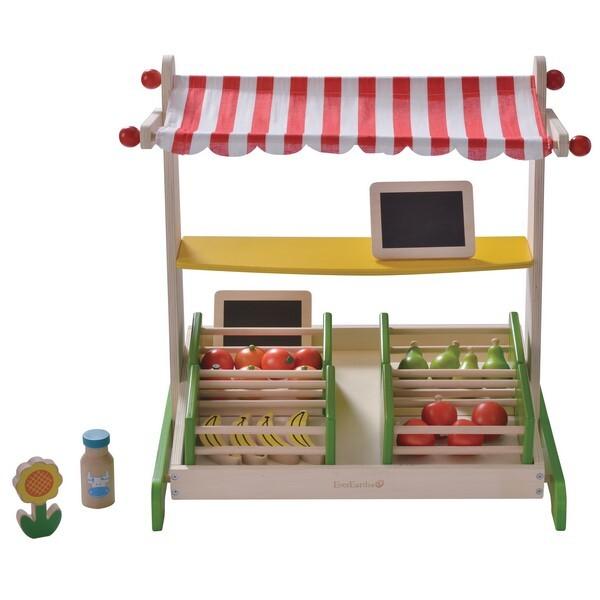 Wooden table top fruit stand everearth shop online at for Stand de fruits ikea