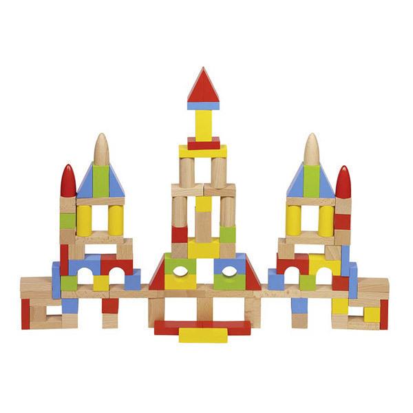 Goki - 50 cubes de construction en bois - Dès 2 ans