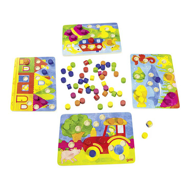 Goki - Jeu de couleurs Loto - Dès 3 ans