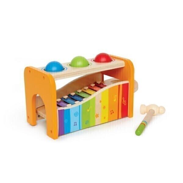 Hape - Boîtier musical à marteler avec xylophone - Dès 1 an