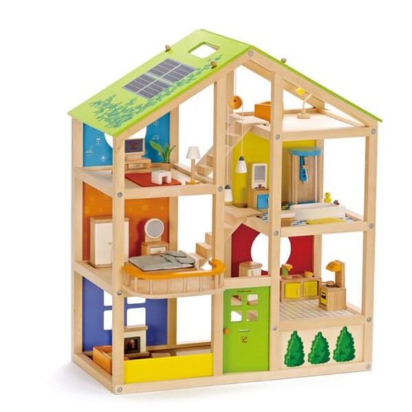 Hape - Happy Family E3401 All Season House - Furnished
