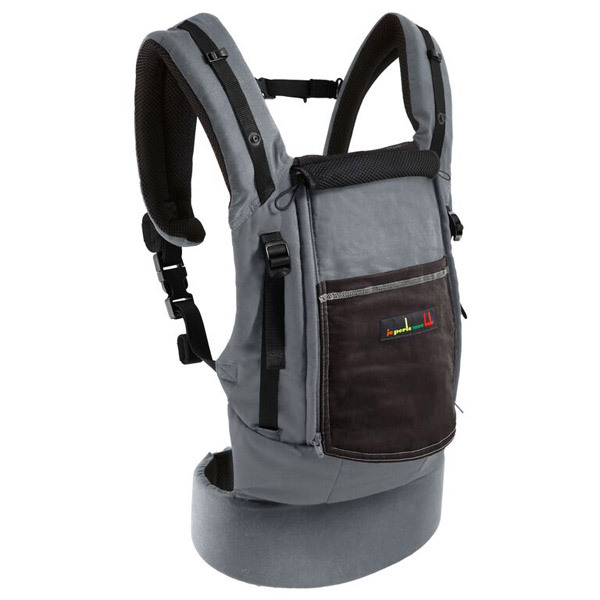 JPMBB Physio Carrier Cotton Elephant Dark Brown Je Porte Mon Bébé - Porte bebe physiocarrier