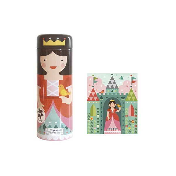 Petit Collage - 64 Piece Tin Canister Puzzle - Royal Castle