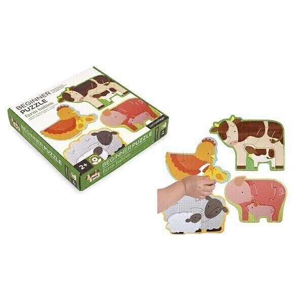 Petitcollage - Puzzle x4 animaux de la ferme, 2+