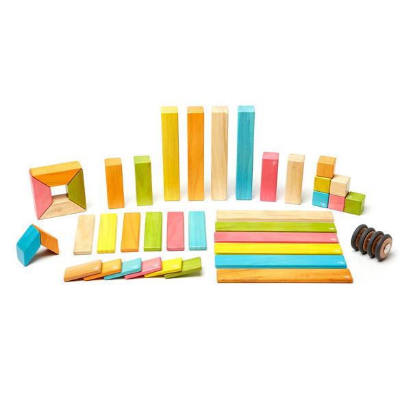 Tegu - Tints Magnetic Wooden Blocks - 42 Piece Set