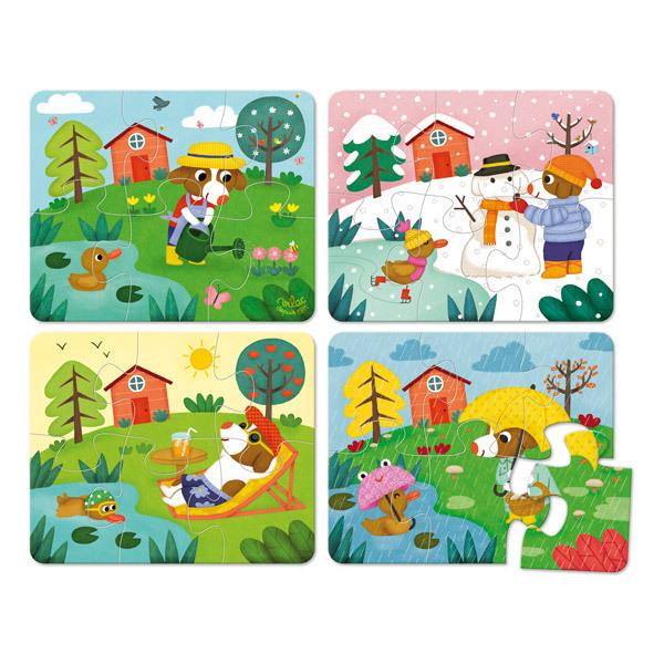 Vilac - Puzzles des 4 saisons en bois - Dès 2 ans