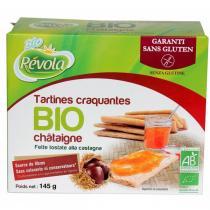 BioRevola - Tartines craquantes chataignes bio sans gluten 145g