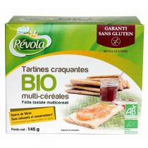 BioRevola - Tartines craquantes multi-céréales bio sans gluten