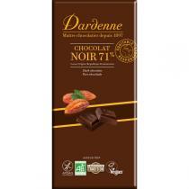 Dardenne - Tablette chocolat noir 71 % et sans gluten 100g