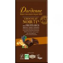 Dardenne - Tablette chocolat noir au fruits secs 180g