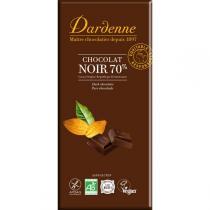 Dardenne - Tablette chocolat noir au sucre de canne et sans gluten 100g