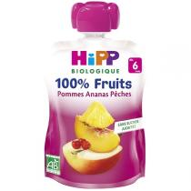 HiPP - Gourde pommes ananas pêches 90g