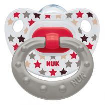 NUK - 1 sucette physio silicone T1 Transparente imprimée
