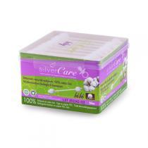 Silver Care - Coton tige sécurité bébé Coton Bio Boite x56