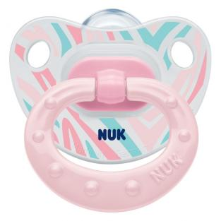 NUK - 1 sucette physio silicone T3 Transparente fille