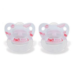 NUK - 2 sucettes physio silicone T2 R&B ROSE