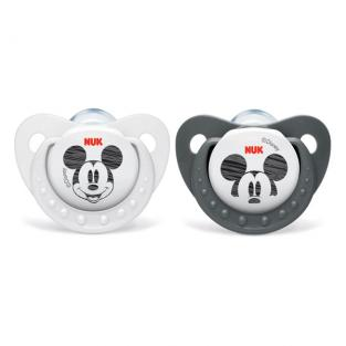 NUK - 2 sucettes silicone T2 Mickey