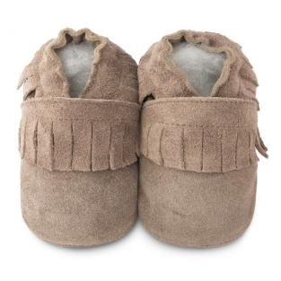 Shooshoos - Chaussons Minimoccs Taupe 0-24 mois