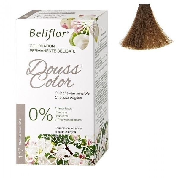 Beliflor - Coloration Dousscolor Châtain Doré Clair 131ml