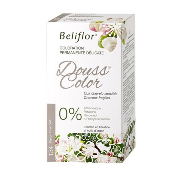 coloration dousscolor marron chocolat 131ml beliflor acheter sur. Black Bedroom Furniture Sets. Home Design Ideas