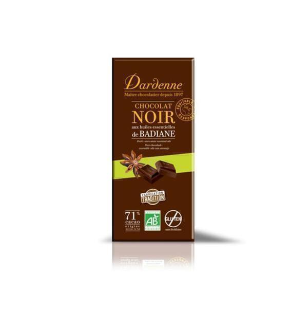 Dardenne - 71% Dark Chocolate with Star Anise 70g
