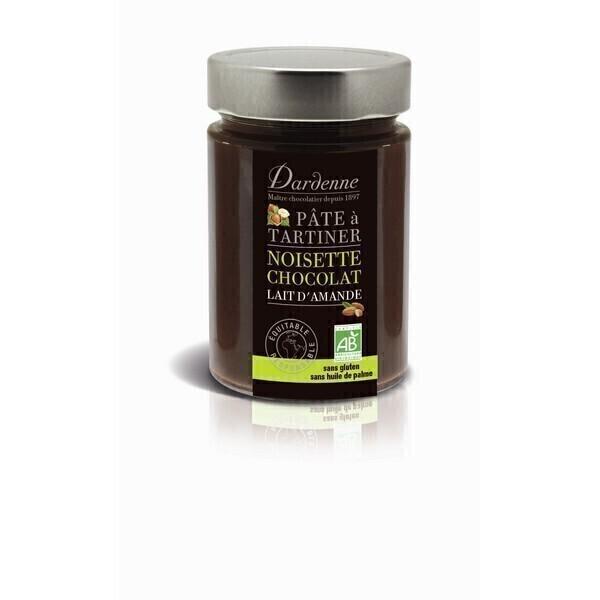 p te tartiner chocolat noisettes au lait d 39 amande 350g dardenne acheter sur. Black Bedroom Furniture Sets. Home Design Ideas