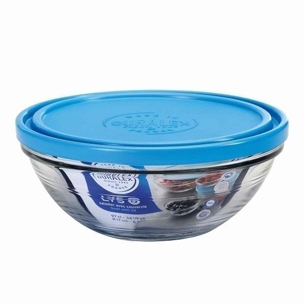 Duralex - Boite de conservation ronde en verre avec couvercle 23cm