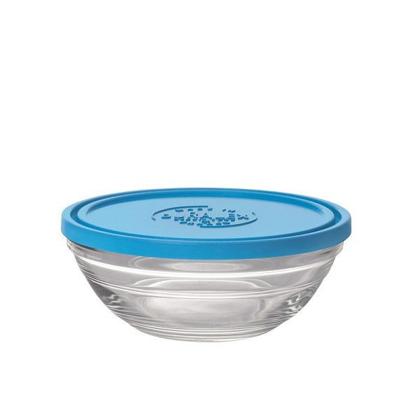 Duralex - Boite de conservation ronde en verre avec couvercle 14cm