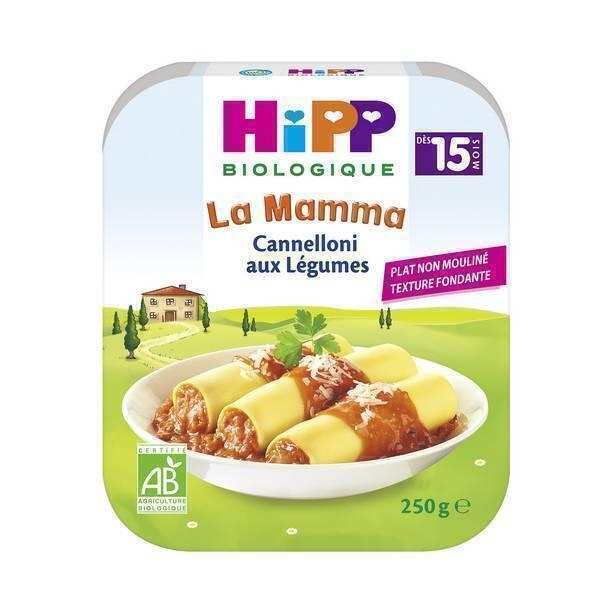 HiPP - 1 assiette cannelloni aux légumes 250g
