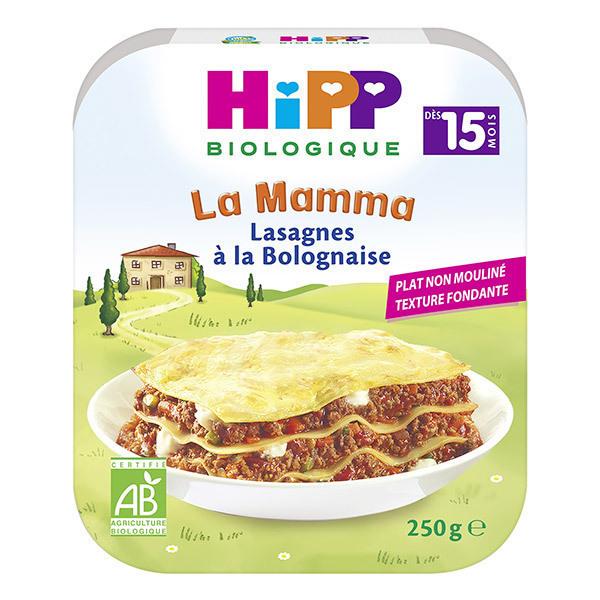 HiPP - 1 Assiette Lasagnes à la Bolognaise 250g
