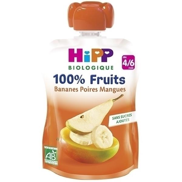 HiPP - Gourde bananes poires mangues 90g