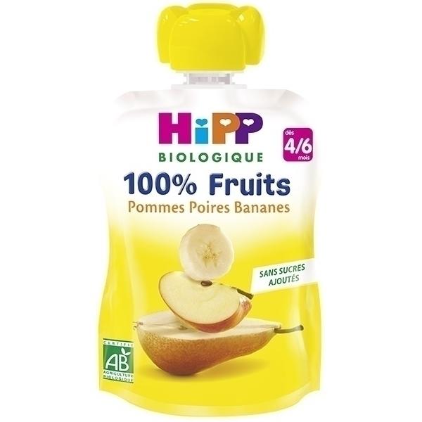Hipp - Gourde Pommes Poires Bananes 90g
