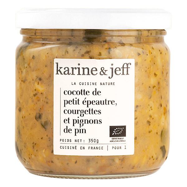 Karine & Jeff - Cocotte  petit épeautre, courgettes et pignons de pin 350g
