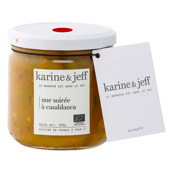 Karine & Jeff - Mijoté de légumes, pois chiches et lait de coco 360g