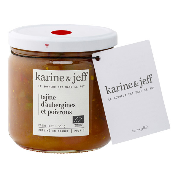Karine & Jeff - Tajine d'aubergines et poivrons 350g