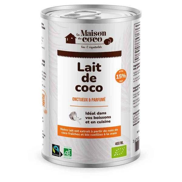 La maison du Coco - Lait de coco 15% MG 400ml
