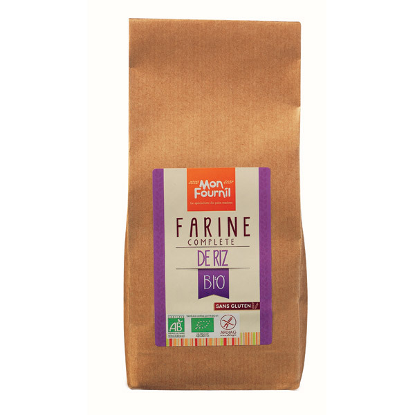 Mon Fournil - Farine de Riz complète bio sans gluten 400g